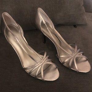 Ann Taylor Silver Sandals
